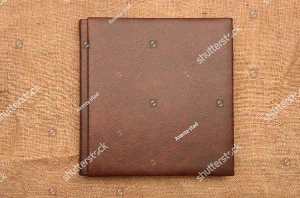 Brown Leather Photo Album Cover Design