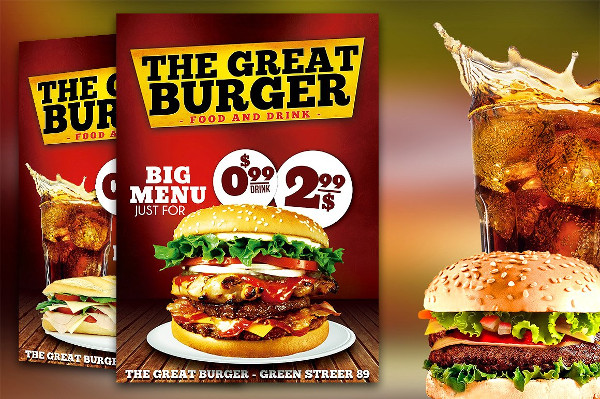 Fast Food Drive Flyer Template