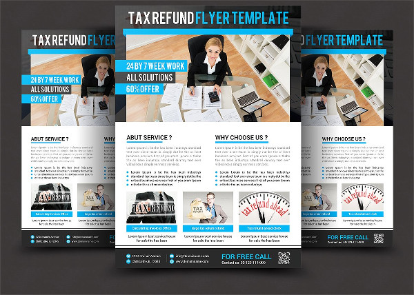Business Tax Refund Flyer Photoshop Template