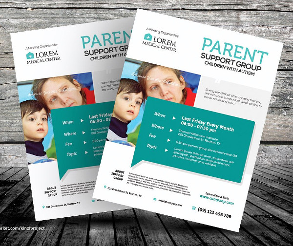 Cancer Support Group Health Flyer Templates