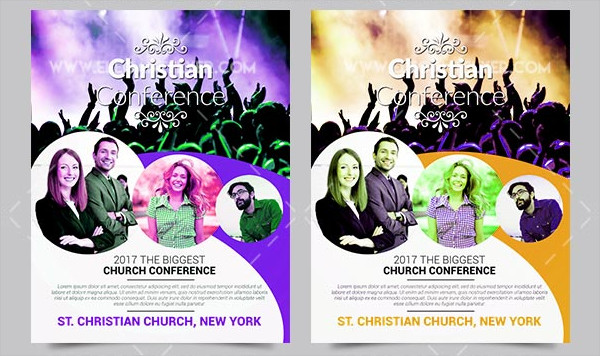 Christian Conference PSD Flyer Template