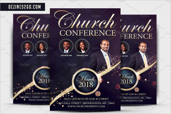 Attractive Church Conference Flyer Template