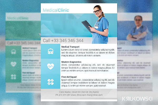 Commercial Medical Clinic Flyer Template