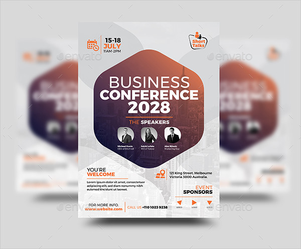 Fully Editable Conference Event Flyer Template