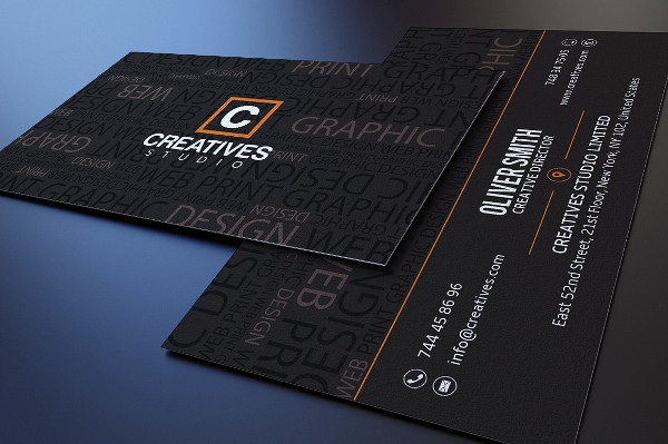 Customizable Typography Business Card