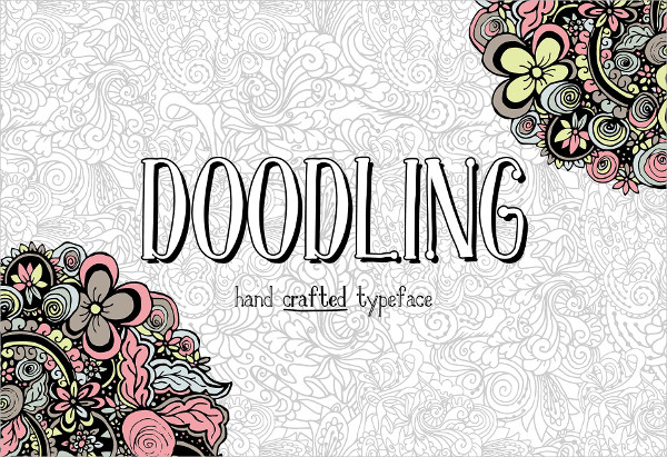 Doodling Hand Crafted Typeface Font