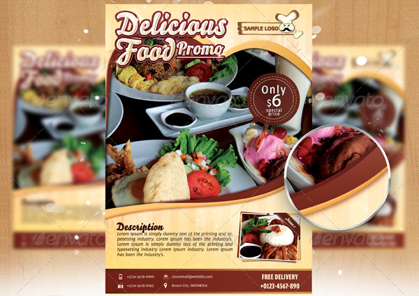 Elegant Fast Food Flyer Template