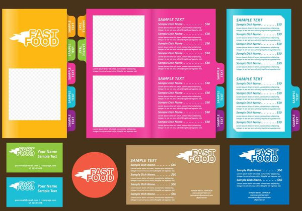 Fast Food Templates Free Vector