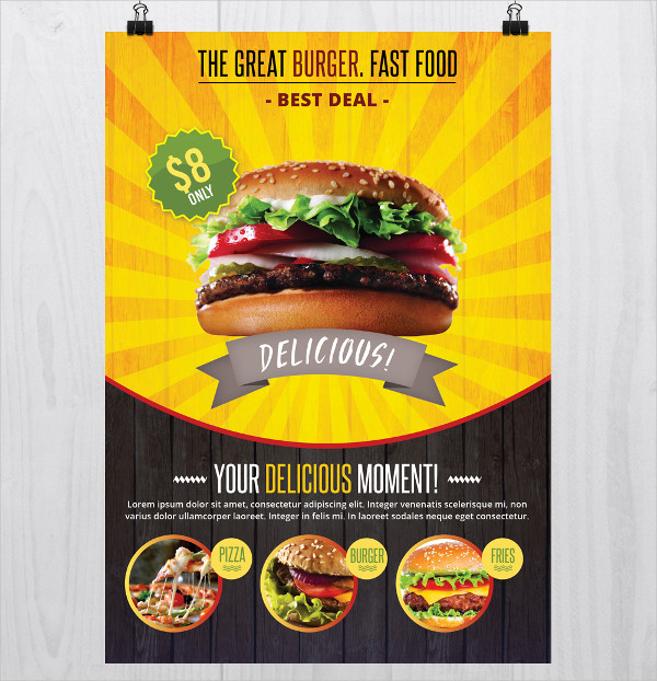 Fast Food Free PSD Flyer Template