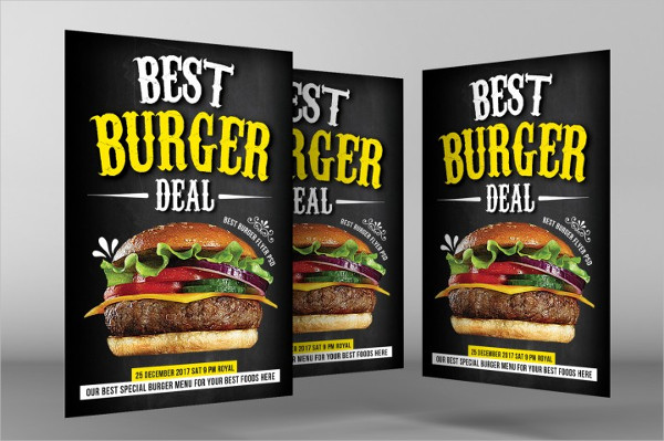 Fast Food Promo Flyer Template