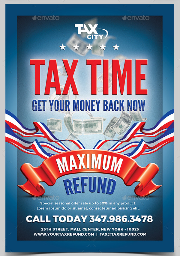 Best Income Tax Flyers Design
