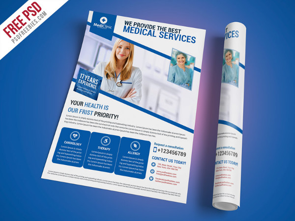 Free PSD Medical Services Flyer