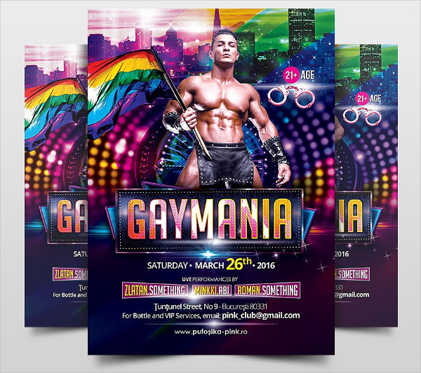 Gay Mania Flyer Template