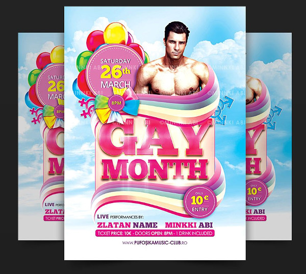Gay Month Flyer or Poster Template