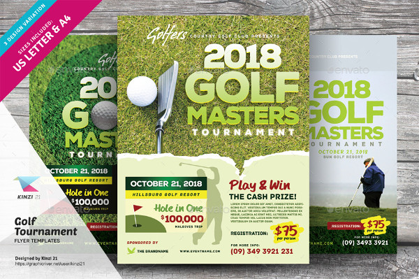 Golf Outing Flyer Template Choice Image Template Design Free Download