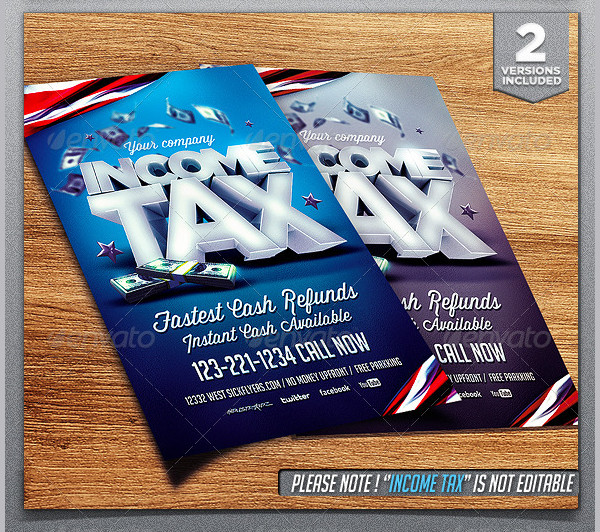Popular Income Tax Flyer Template
