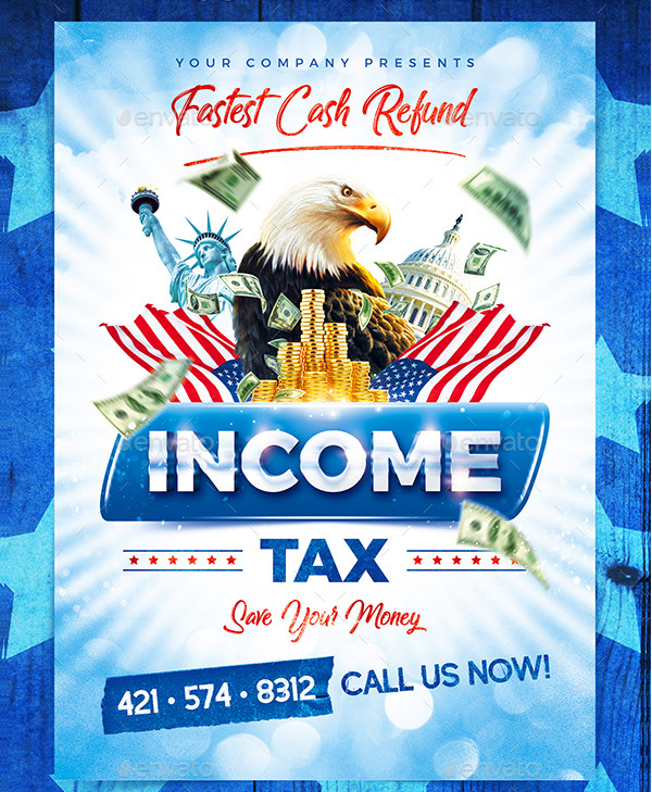 Income Tax Agent Flyer Template