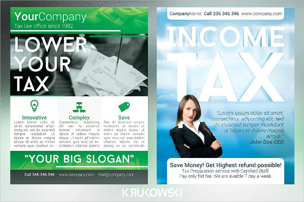 Income Tax Service Flyers Bundle