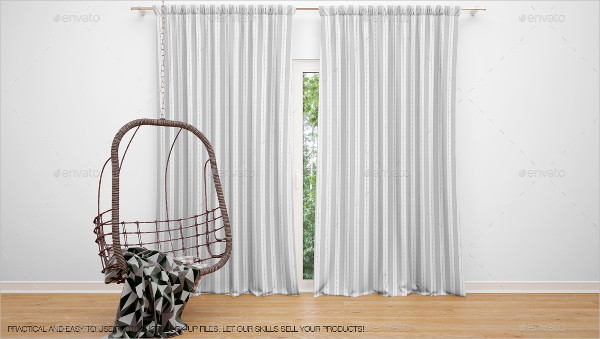 Fully Editable Curtains Mockup Pack