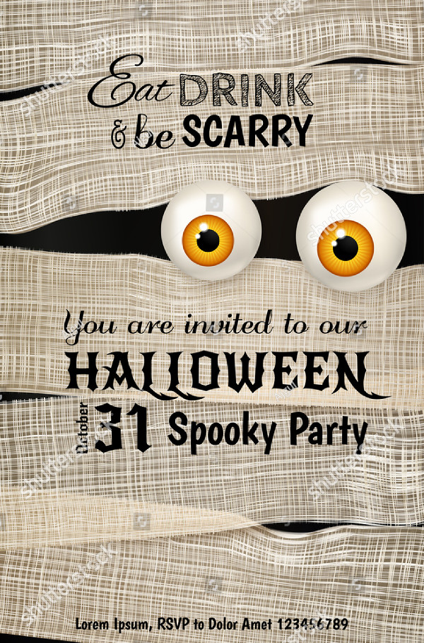 Invitation Design for Halloween Party