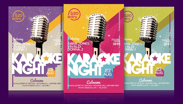 Karaoke Party Flyer Templates