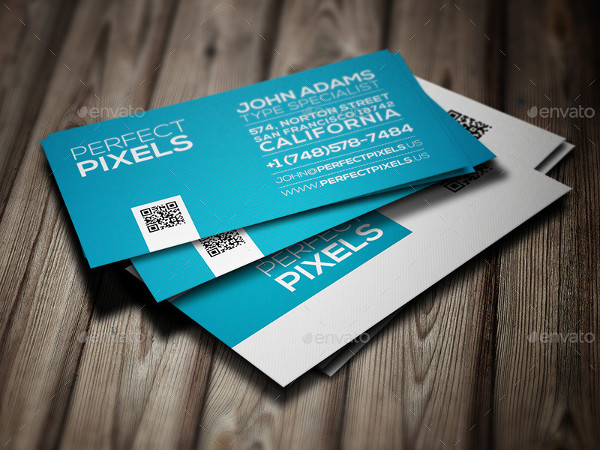 Modern Typography Business Card Template