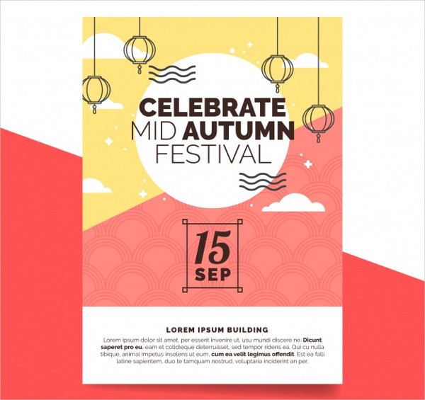 Modern Poster for Mid Autumn Festival Free Download