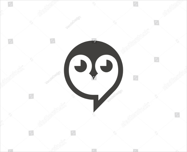 Owl Cartoon Logo Template