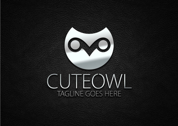 Owl with Big Eyes Logo