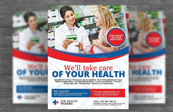 Cool Pharmacy Services Flyer Template