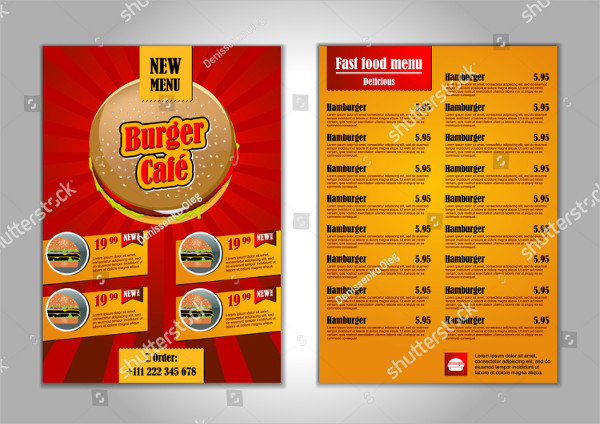 Sample Fast Food Flyer Design Template
