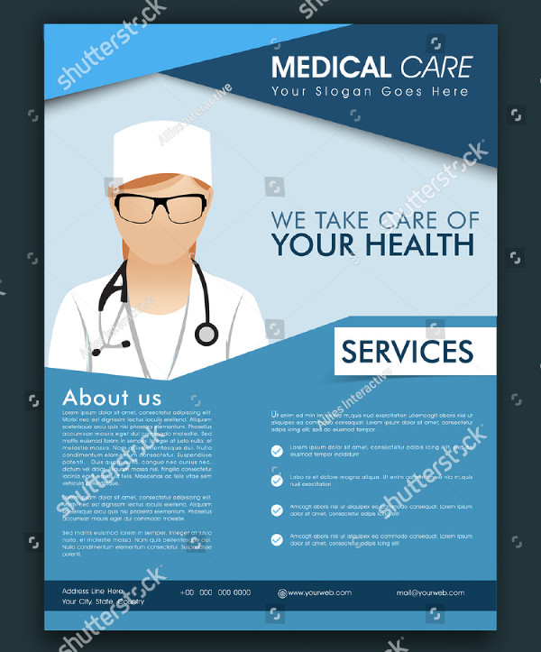 Stylish Medical Care Flyer Template