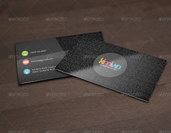 Stylish Typography Business Card Design