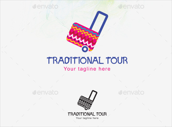 Traditional Tour Stock Logo Template