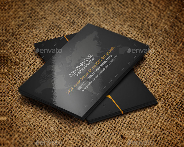Typography Agency Business Card