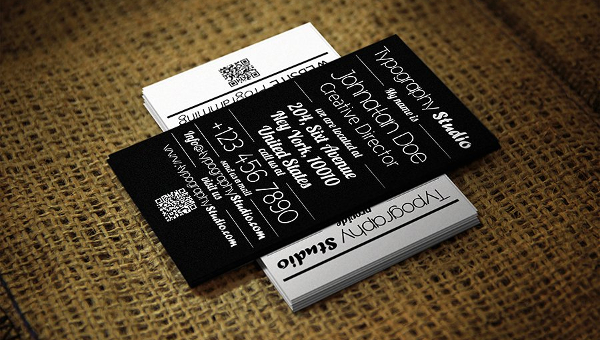Typography Business Card Templates