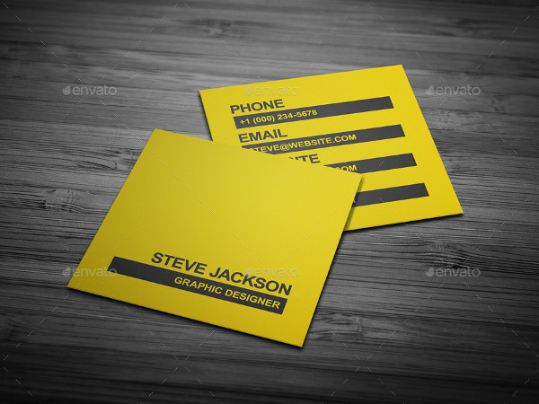 Typography Creative Business Card