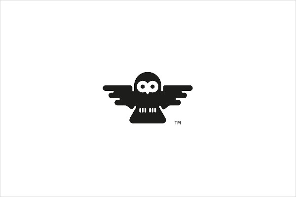 Unique Owl Design Logo Template