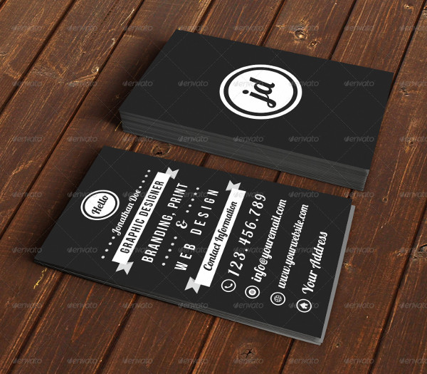 Cool Typography Business Card Template