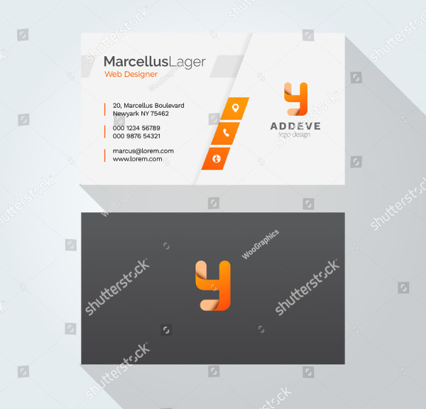 Typography Corporate Business Card Design Template