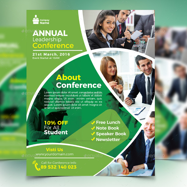 Annual Leadership Conference Flyer Template