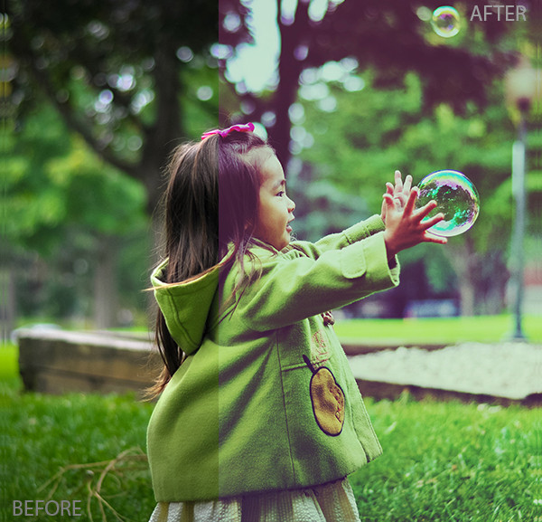 10 Pretty Kids Portrait Actions
