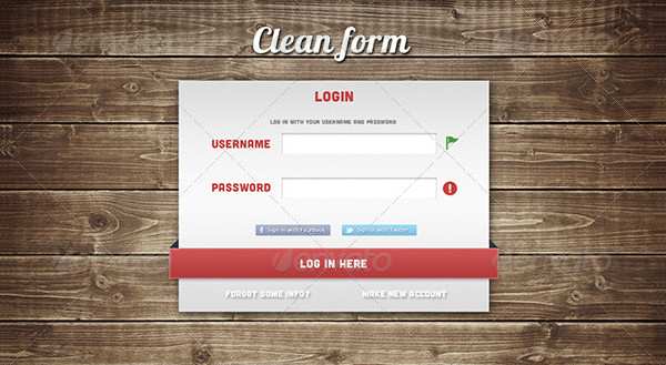 3 Clean Login Forms Template