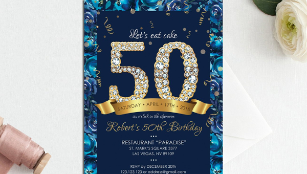 50th birthday invite template