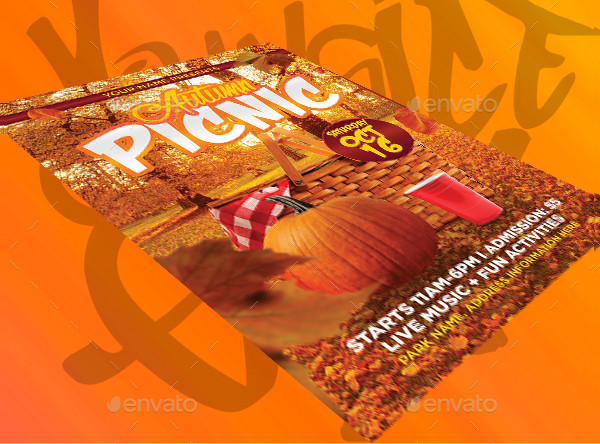 Autumn Picnic PSD Flyer Template