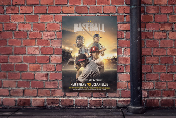 Baseball Competition Flyer Photoshop Design