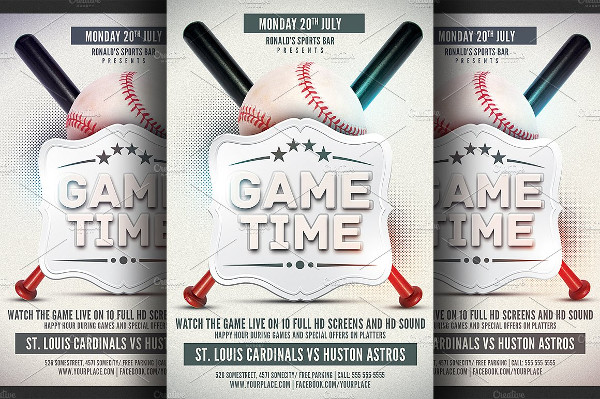 Baseball Time Flyer Template