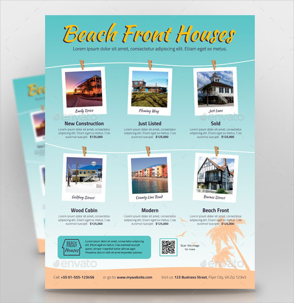Beach Houses For Sale Flyer