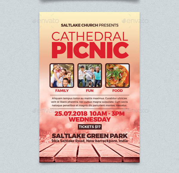 Cathedral Picnic Photoshop Flyer
