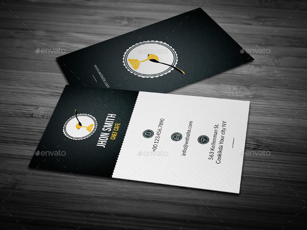 Chef Cafe Business Card Design